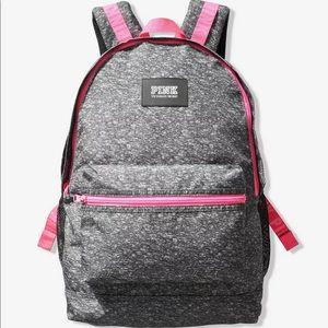 *NWT* VS PINK Logo Campus Backpack Grey/Pink